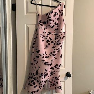 ASOS DESIGN one shoulder midi dress